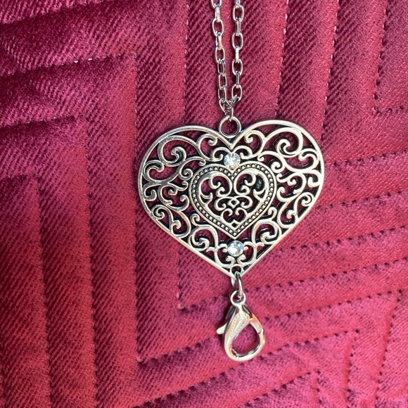 Heart shaped lanyard with earrings